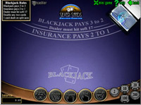 Screen Shot Of A Blackjack Table At Casino Silversands