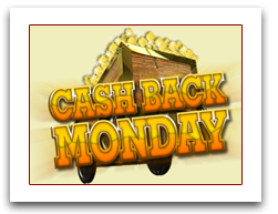 Cash Back Mondays!