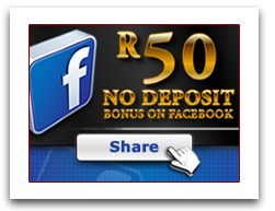 Facebook Casino Promotion of R50