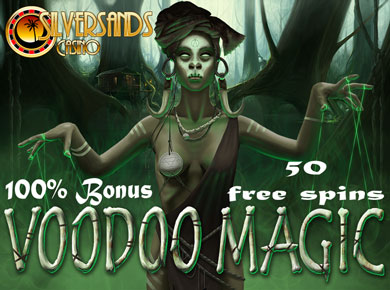 Get 50 Free Spins On The Bewitching Voodoo Magic Slot During October At Silversands Casino